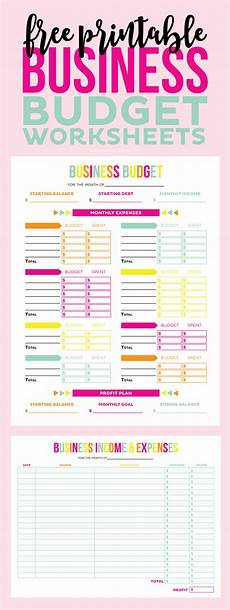 Small Business Budget Worksheet Free Printable Business Budget Worksheets Printable Crush
