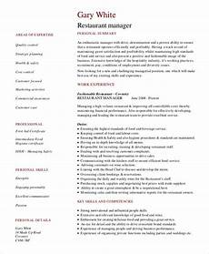 Restaurant Manager Resume Sample Restaurant Manager Resume Template 10 Free Word Pdf