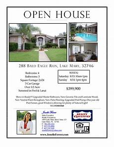 Real Estate Open House Flyers Your Central Florida Realtor Buying Or Selling News To