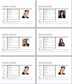 Profile Templates Employee Profile Template Free Word Templates