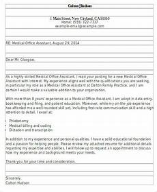 Medical Office Letter Templates Sample Office Assistant Cover Letter 7 Examples In Word