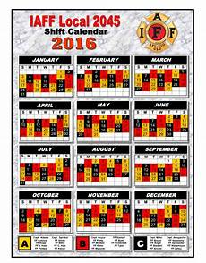 Firefighter Schedule Calendar Iaff 2045 187 The Greater Hanover Professional Firefighters