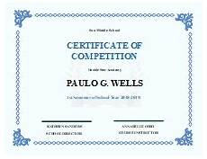 Certificate For Competition Student Certificate Free Student Certificate Templates