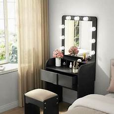 Vanity Table Set With Lights Makeup Vanity Dressing Table With 9 Cool Light Bulbs Amp 1