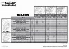 Tire Equal Chart 6807l Tire Chart Traxxas
