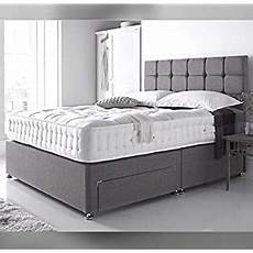 sleep factory ltd new charcoal grey suede divan bed set