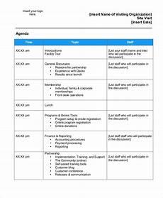 Business Trip Agenda Template 9 Sample Visit Agenda Free Sample Example Format