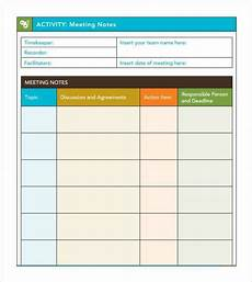 Action Item Template Word 7 Free Meeting Minutes Templates Excel Pdf Formats