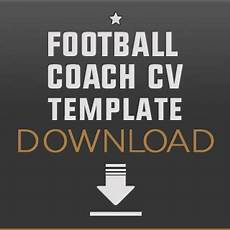 Football Coach Cv Template How To Become A Football Coach Player Scout