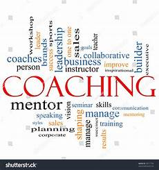 Describing Leadership Skills Coaching Word Cloud Concept Terms Such Stock Illustration