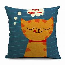 cat design decorative pillow cover 43cm x 43cm the