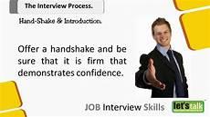 Interview Skills Job Interview Skills Training Part 4 1 Hand Shake In An
