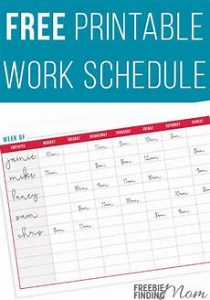 Printable Work Schedules Free Printable Work Schedule