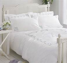 white cotton bedding bed linen vintage embroidered
