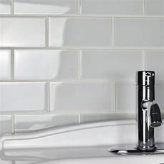 white glass subway tile kitchen backsplash elitetile 3 quot x 6 quot glass subway tile in white