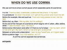 When Do I Use A Comma When Do We Use Comma Homeschooling Pinterest