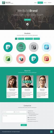 Single Page Website Templates Free Flat Style Single Page Website Design Template Html