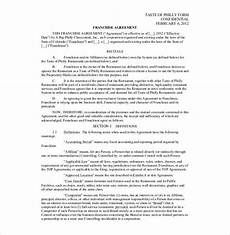 Franchise Contract Samples 21 Franchise Agreement Templates Word Pdf Google Docs