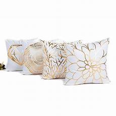 decorative cushion covers 45x45cm gold foil printing