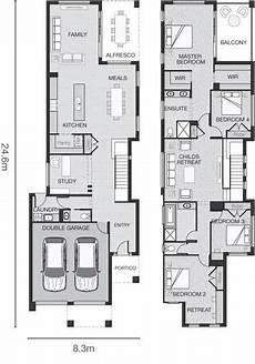 standard floorplan for the narrow house plans