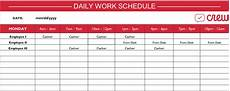Working Schedule Format Daily Work Schedule Template Free Templates