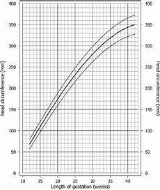 Average Head Circumference Chart Head Circumference Size Chart After Chitty Et Al 4