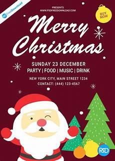 Christmas Lights Flyer Template Christmas Flyer Template Design Psd Free Download