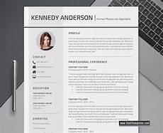 Modern Professional Resume Template 2020 Modern Cv Template For Ms Word Curriculum Vitae