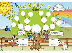 Family Template Family Tree Template For Kids A Fun Activity Poster By