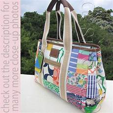 patchwork bags coach multicolor pattern various fabric patchwork tote