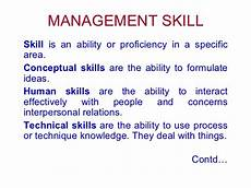 Types Of Managerial Skills Management Skill