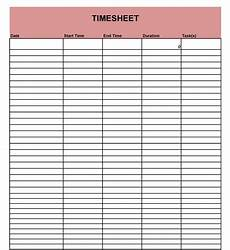 Time In Time Out Sheet 40 Free Timesheet Templates In Excel ᐅ Templatelab