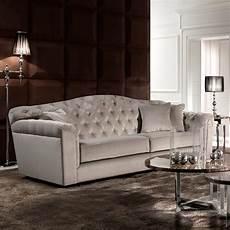 classic italian button upholstered luxury velvet sofa