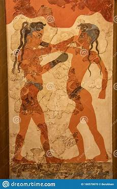 the boxers fresco from bronze age akrotiri on the island