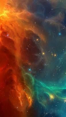 Live Wallpaper Iphone 7 Z by 1080x1920 Nebula Orange Blue Galaxy