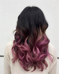 Black To Light Pink Ombre Hair These 19 Black Ombre Hair Colors Are Tending In 2020