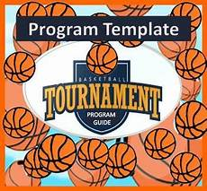 Basketball Tournament Program Template Basketball Tournament Program Guide Editable Template