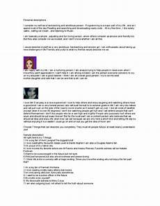 Personal Description Personal Descriptions