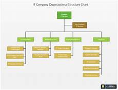 In Company Chart It Company Organizational Structure Chart Editable Org