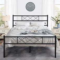 vecelo metal platform bed frame mattress foundation with