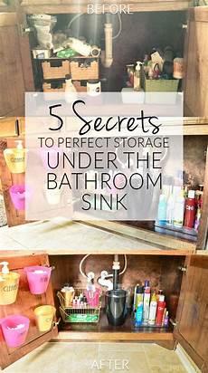 kitchen sink organizing ideas bathroom organization the sink tips side 1