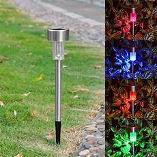 Solar Powered Stake Lights Colorful Solar Led Lawn Light Garden Lamp Outdoor