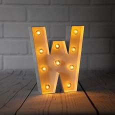 Metal Letters With Lights Wholesale White Marquee Light Letter W Led Metal Sign 8 Inch