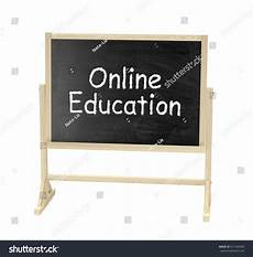 Online Chalkboard Online Education Concept Blackboard Chalkboard Isolated