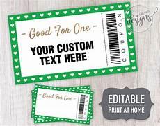 Custom Coupon Maker Christmas Editable Coupons Coupon Template For Dad Kids