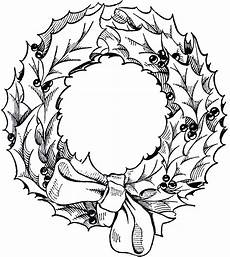 Black And White Christmas Graphics Vintage Christmas Wreath Graphic The Graphics Fairy