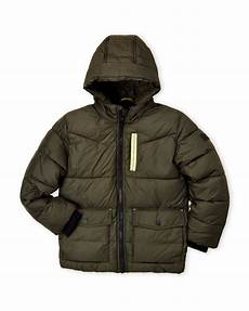 puffer coats for boys circle boys 8 20 olive hooded puffer coat puffer coat coat