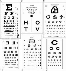 Visual Acuity Picture Chart Examples Of Visual Acuity Charts A Snellen B Hotv