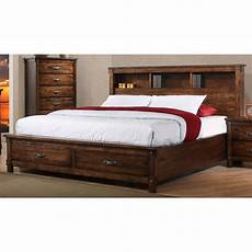 rustic brown king size storage bed rc willey