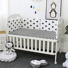 baby crib bumper soft breathable cotton bed protector for